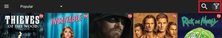 cinema search icon