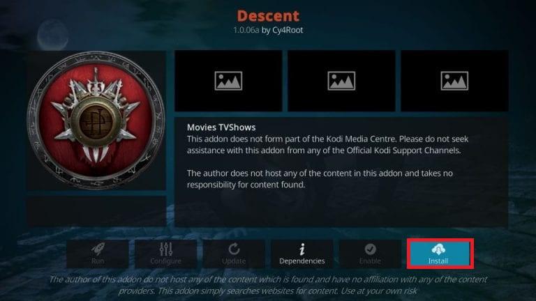 kodi descent addon