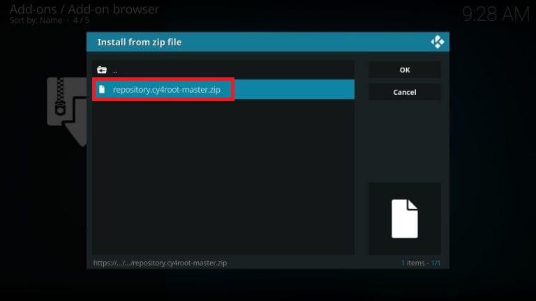 install descent kodi addon