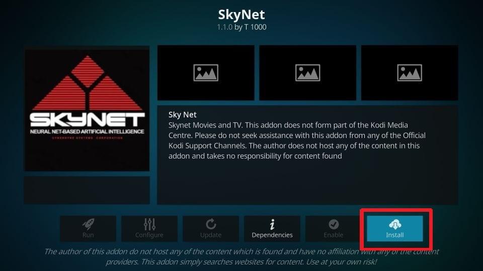 how to install Skynet addon on kodi