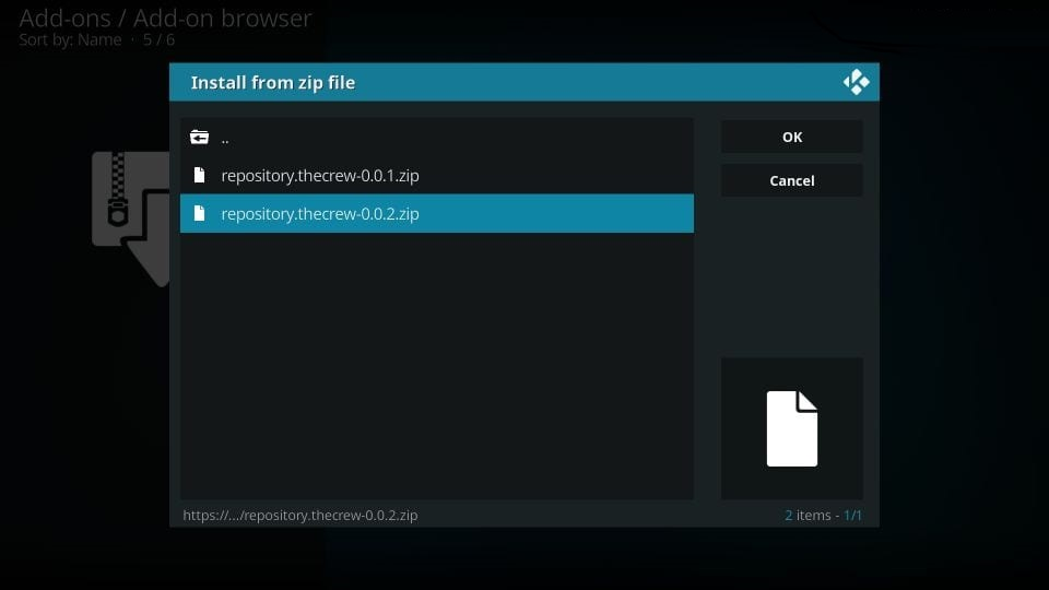 how to install the crew on kodi