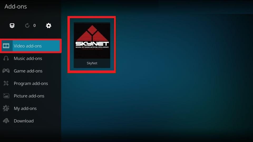 kodi Skynet