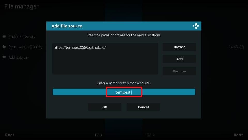 install tempest kodi addon