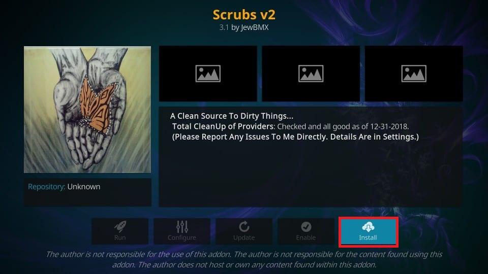 use scrubs kodi addon