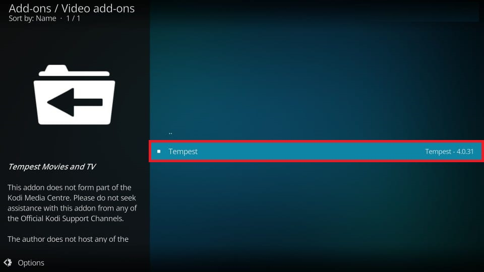 how to get kodi tempest addon