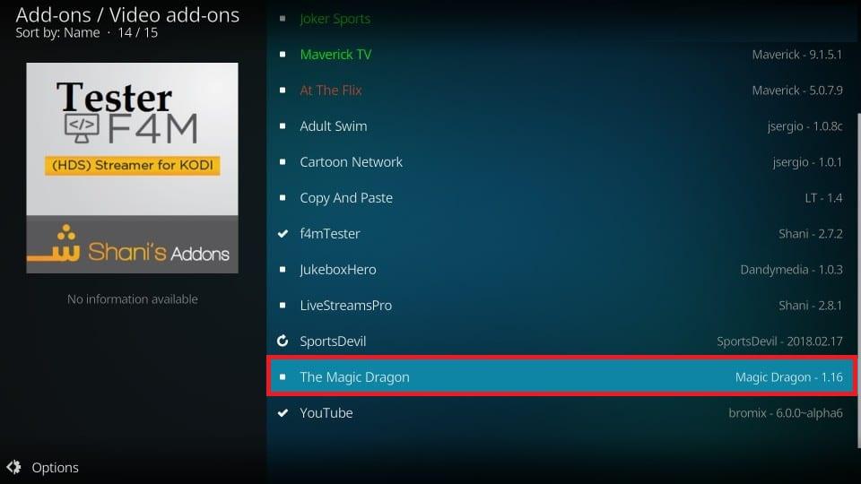 kodi the Magic Dragon addon