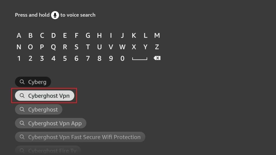 cyberghost vpn app