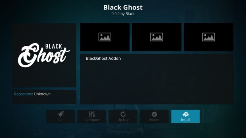 black ghost kodi addon