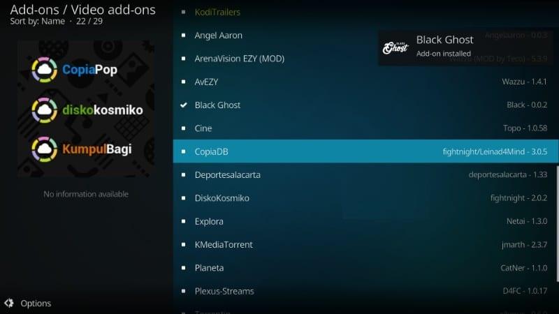 download black ghost kodi addon