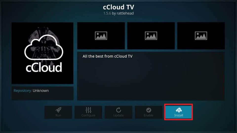 how to install ccloud kodi addon