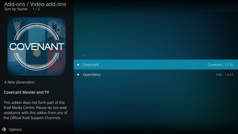 how to get kodi covenant addon