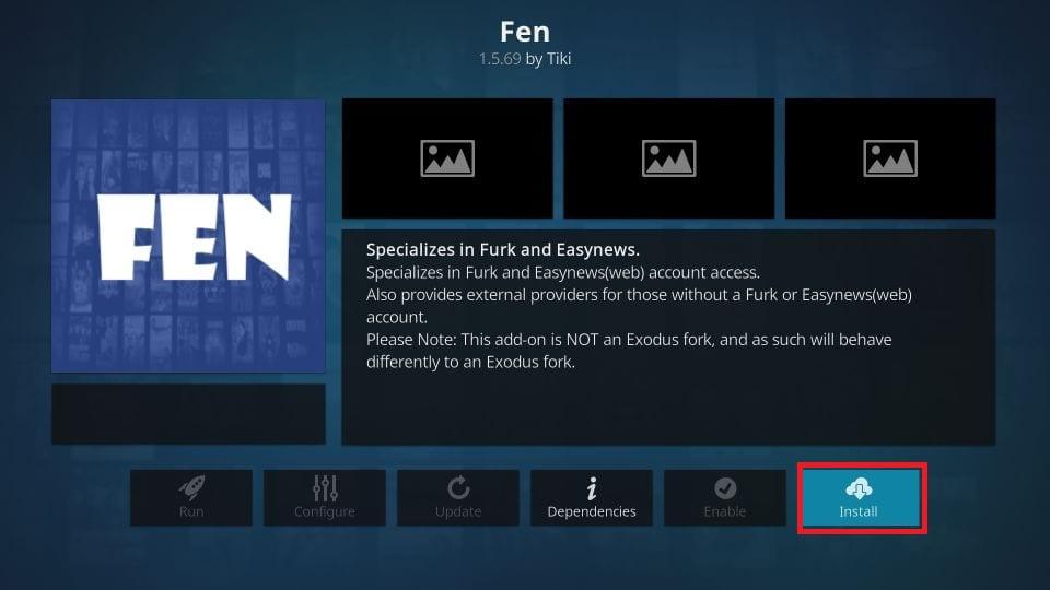 how to install fen kodi addon