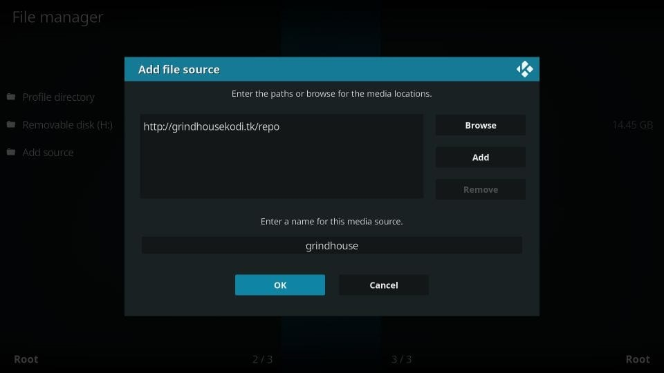 how to get grindhouse build on kodi