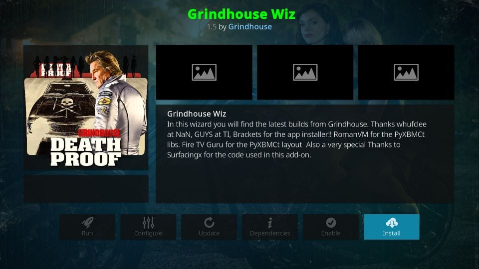 how to install grindhouse wizard on kodi