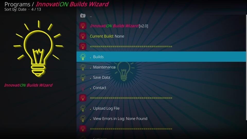 innovation kodi build