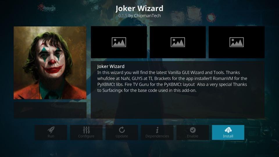 how to install Joker kodi build