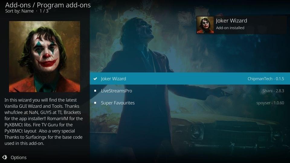 Joker kodi build