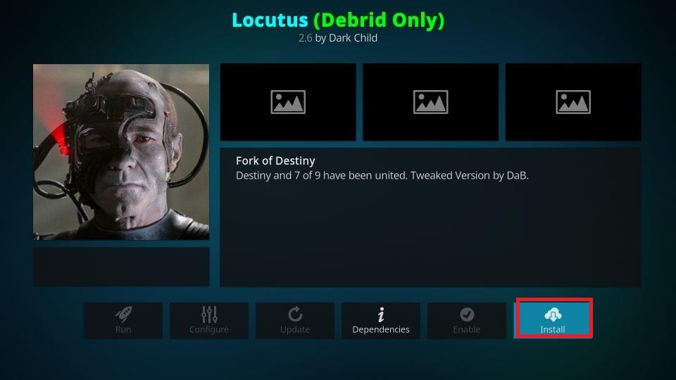 how to install Locutus kodi addon