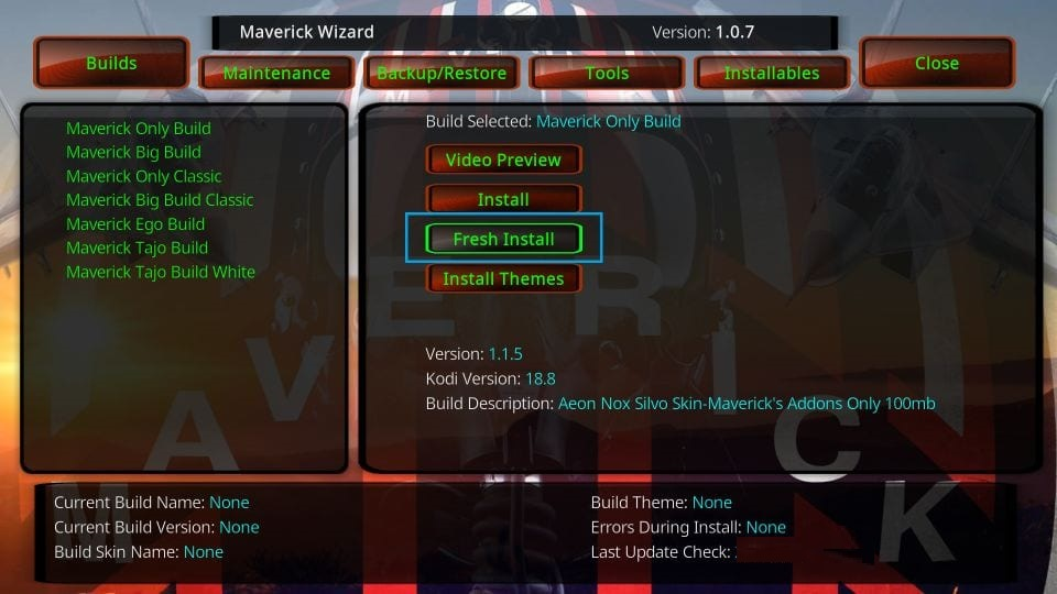 How to install maverick builds on kodi