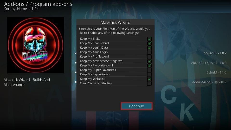 how to install maverick kodi build