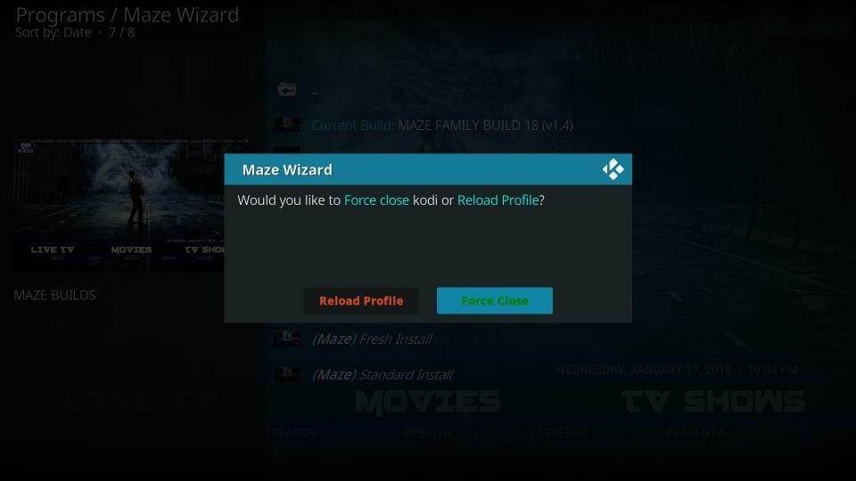 How to install maze builds on kodi