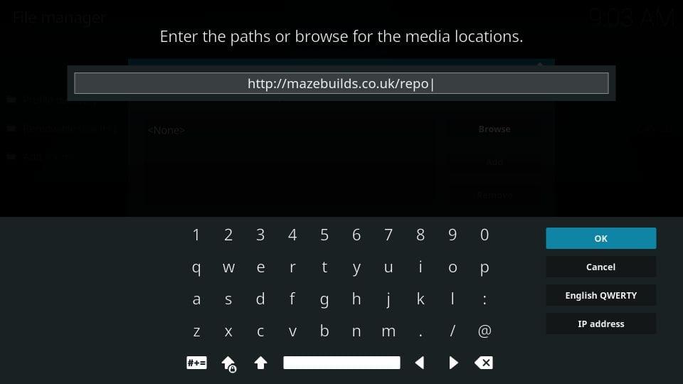 maze build on kodi