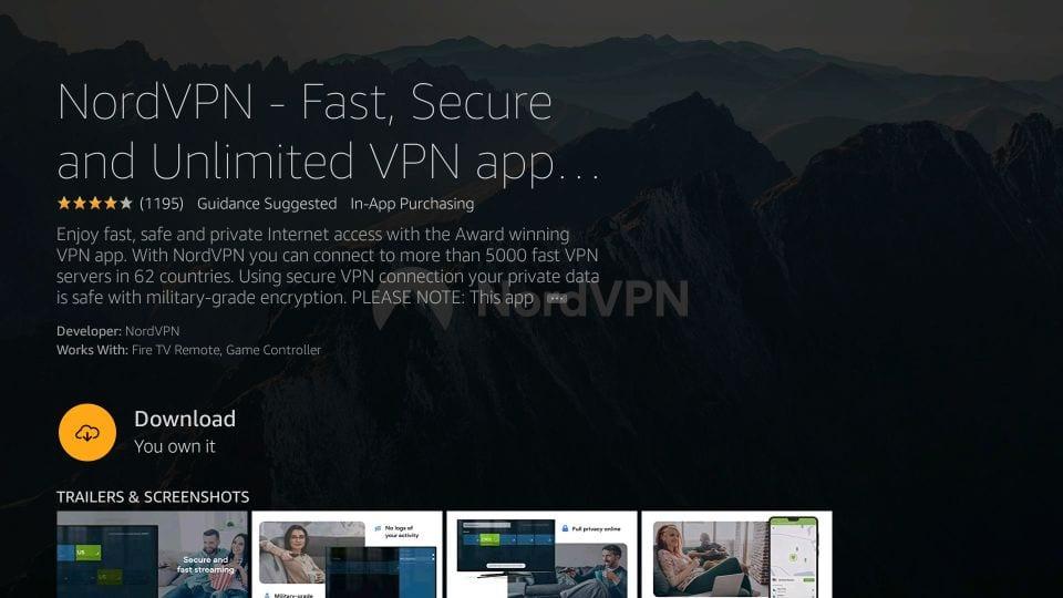 download nordvpn app for firestick