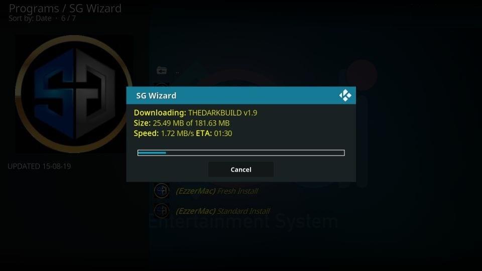 sg wizard kodi builds