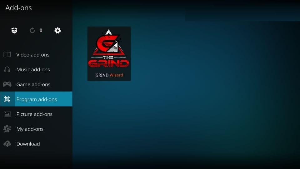 install Grind build on kodi