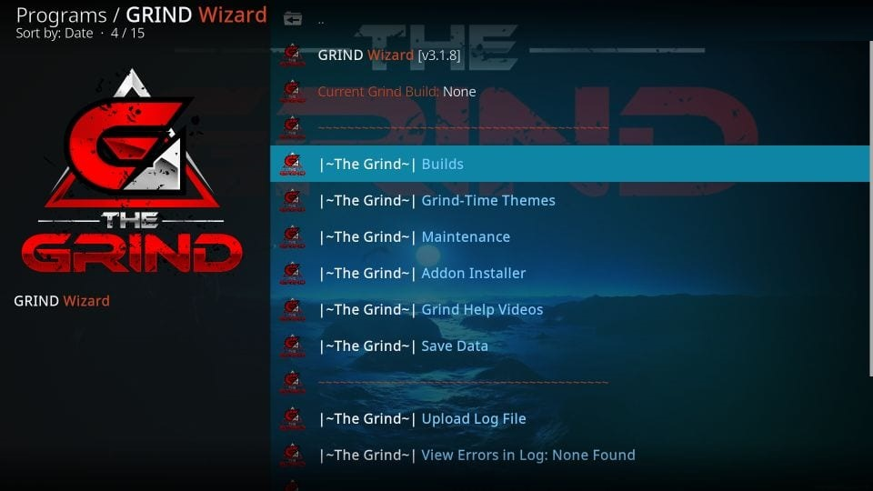 how to install Grind kodi build