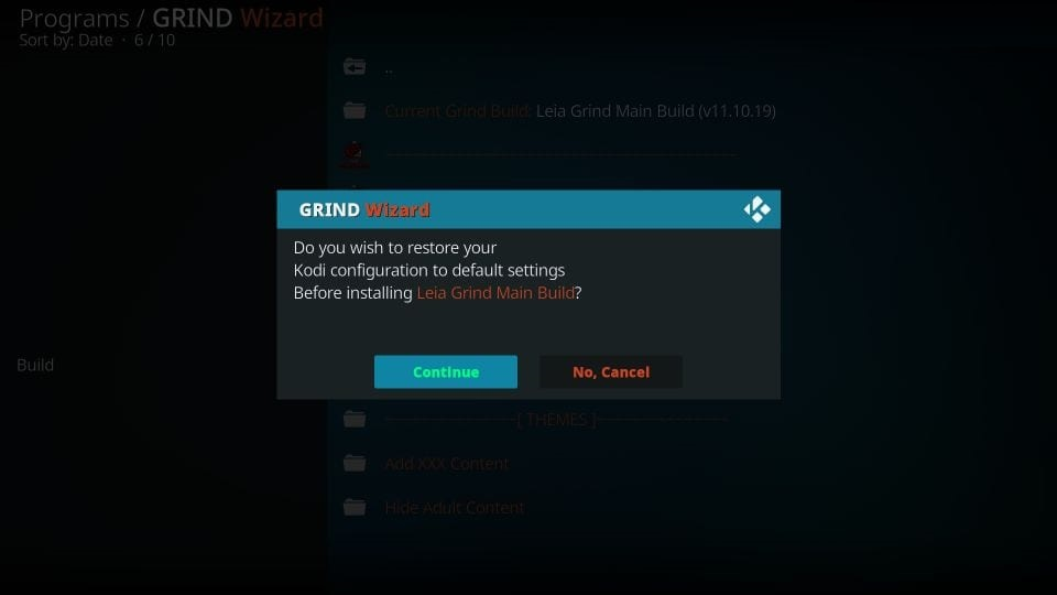 how to install and use Grind kodi build