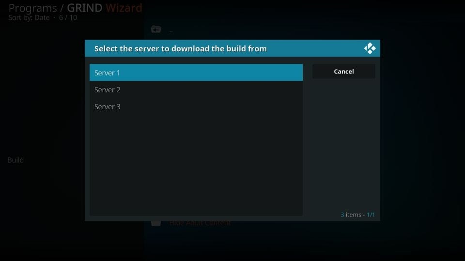 Grind kodi build