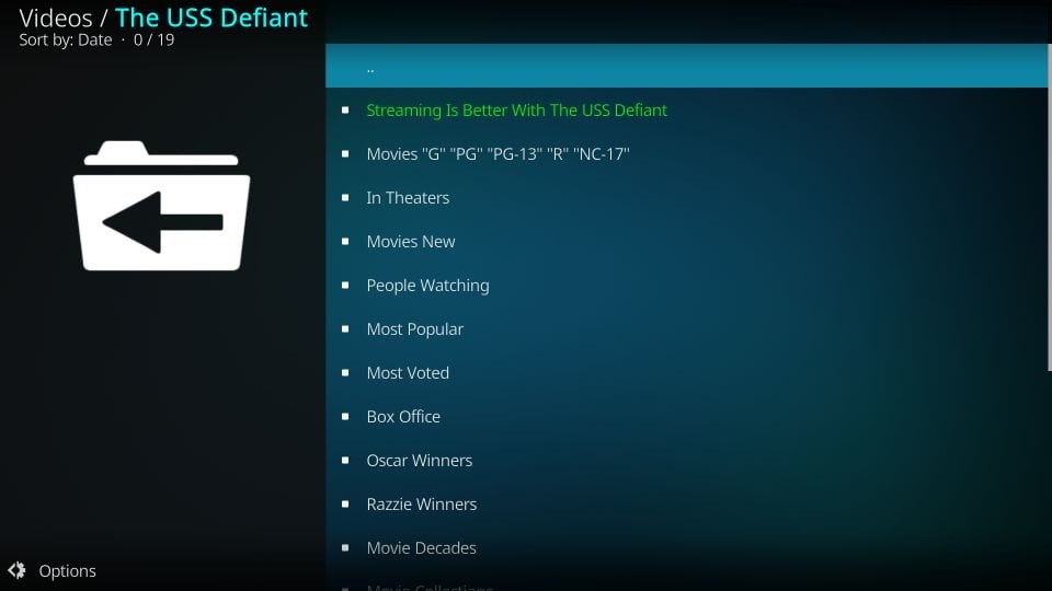 how to get the USS defiant addon and start using it on firestick and kodi