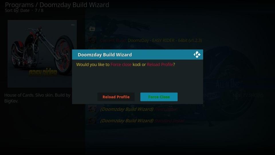 how to install doomzday kodi builds