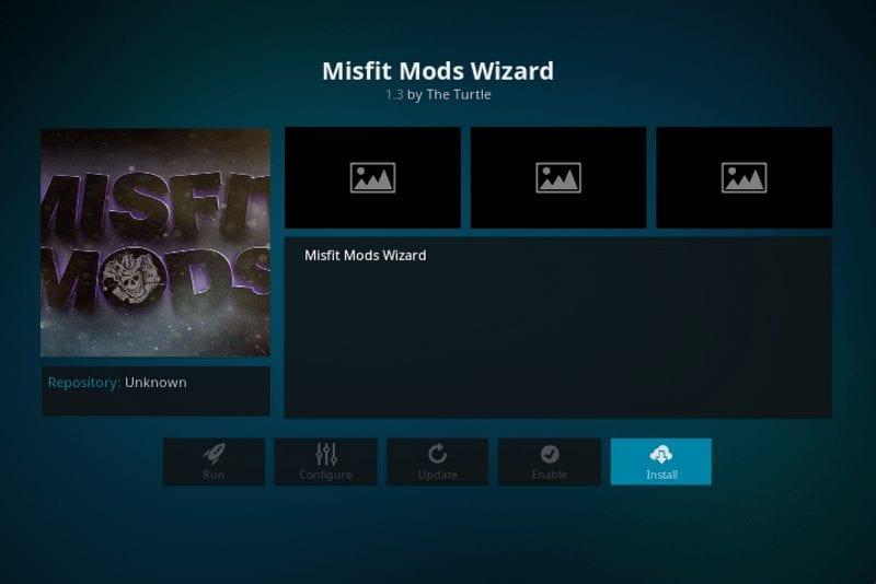 how to install misfit mods wizard on kodi