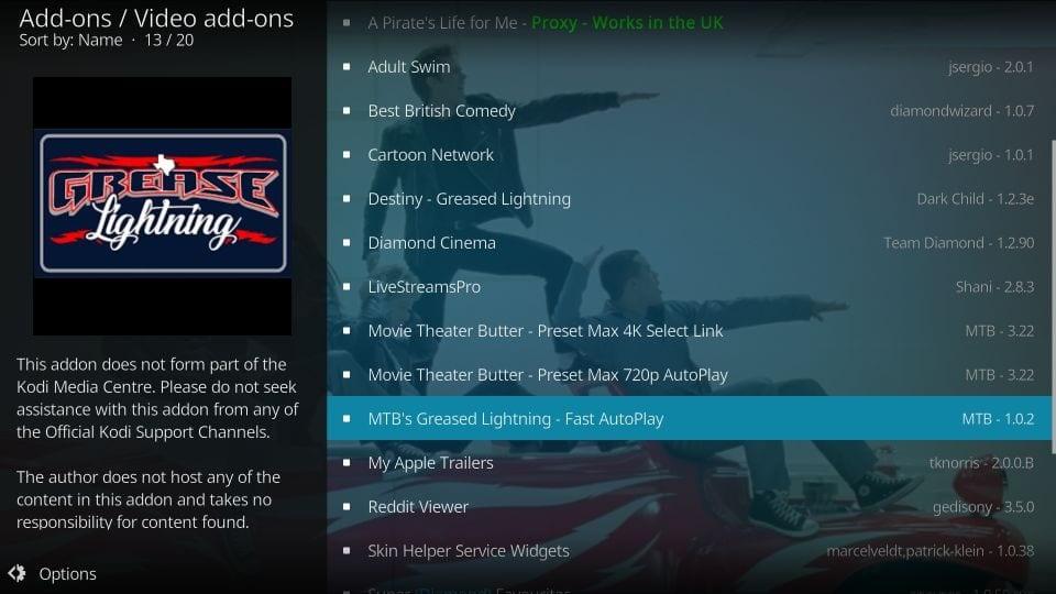 how to get kodi Grease Lighting Reborn addon