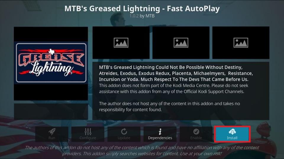 how to install Grease Lighting Reborn kodi addon