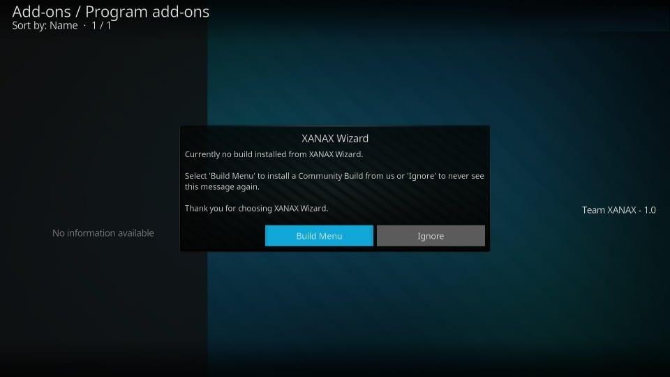 install xanax build on kodi