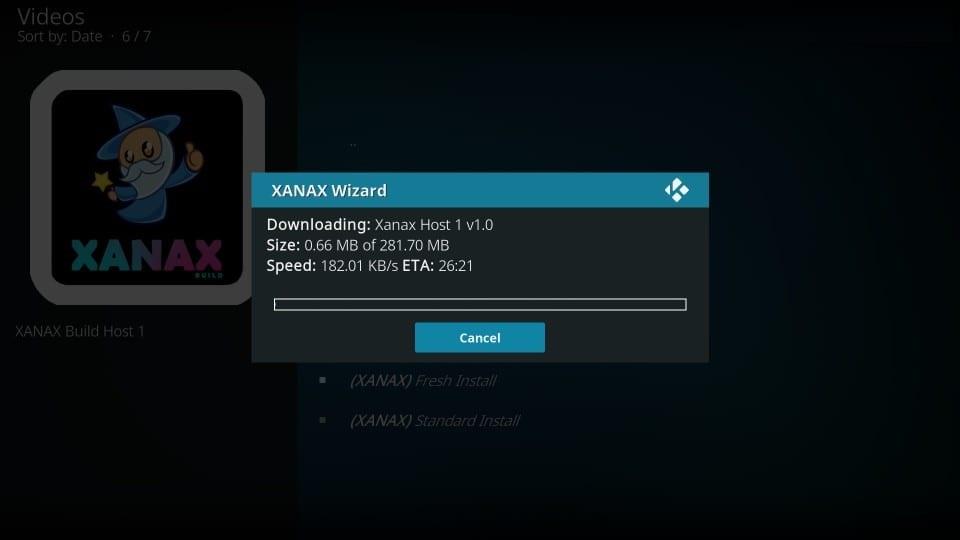 how to install xanax kodi build