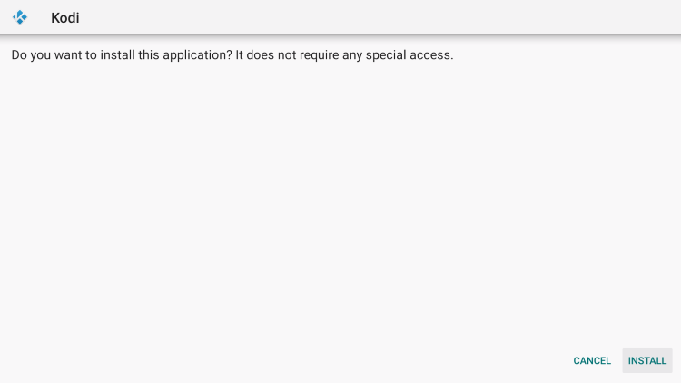 Click Install on the Kodi setup page to jailbreak firestick