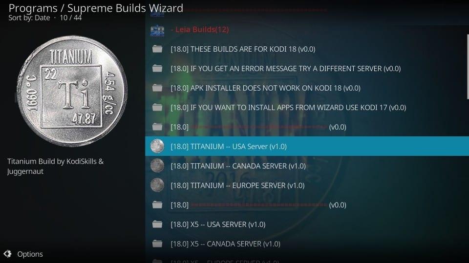 how to install titanium kodi build