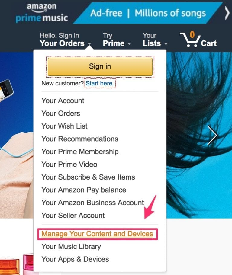 manage content and devices on amazon