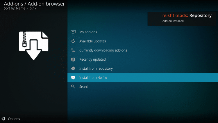 how to install misfit mods repository
