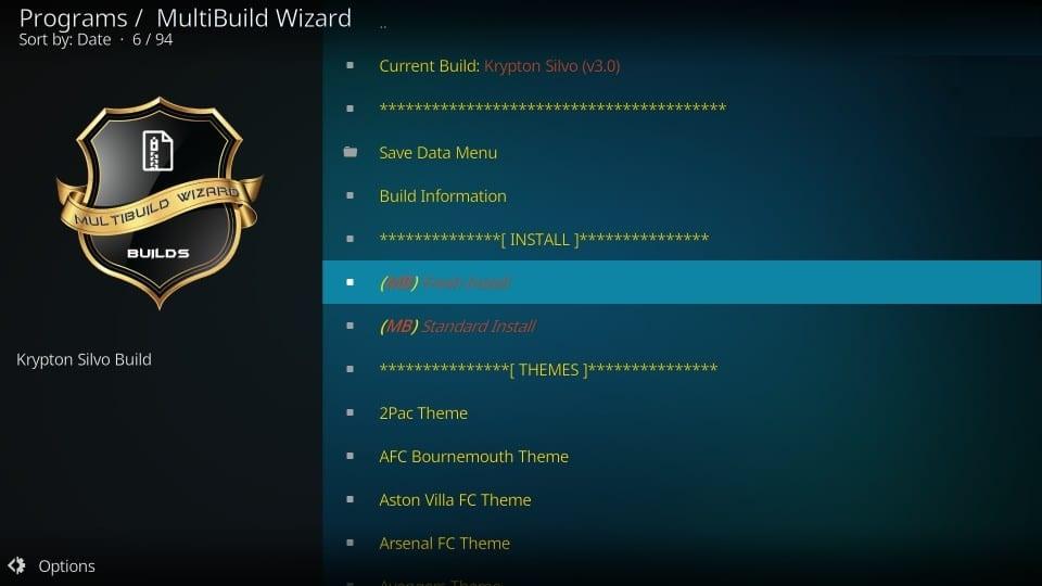 silvo kodi build