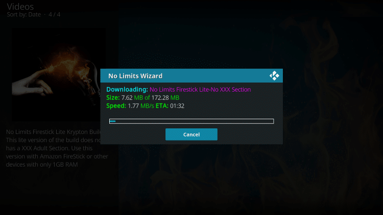 how to install no limits magic kodi build