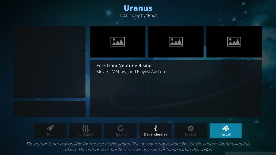 how to install Uranus Kodi Addon on Firestick step 24