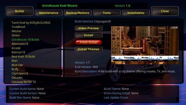 cityscapes kodi build overview