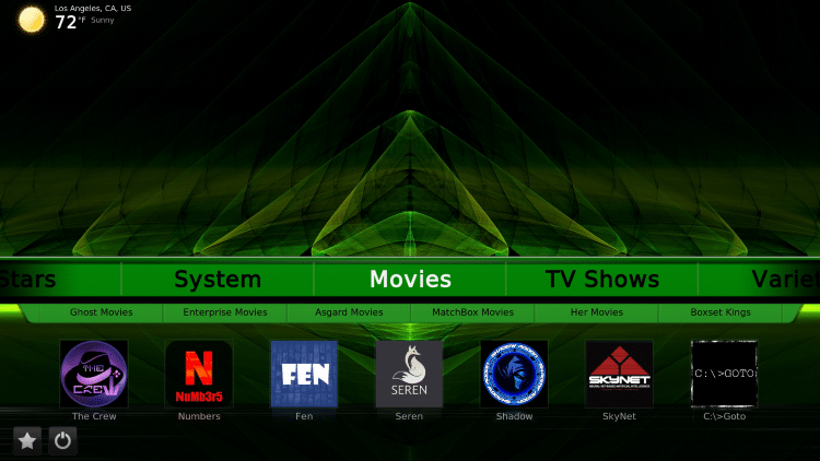 how to use green monster build on kodi