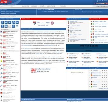 LiveTv - free sports streaming sites