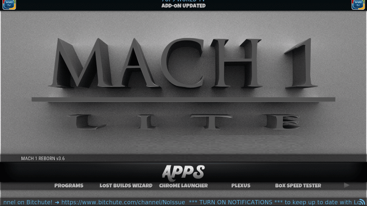 how to install and use mach lite kodi build